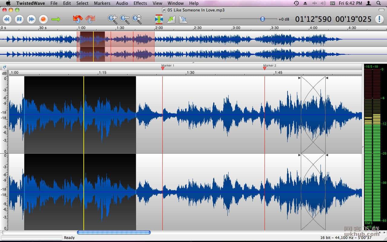 TwistedWave 1.20.1 简单易用的音频编辑软件