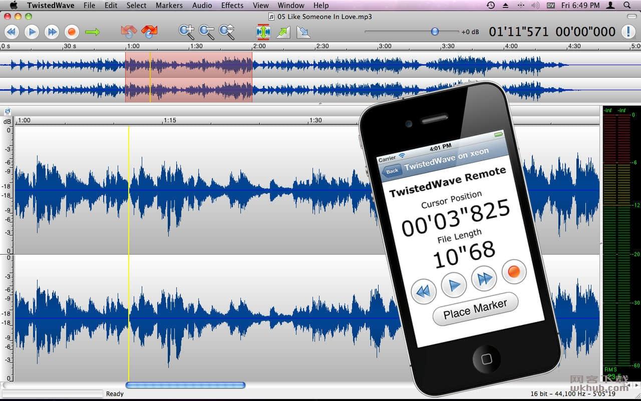 TwistedWave 1.20 简单易用的音频编辑软件