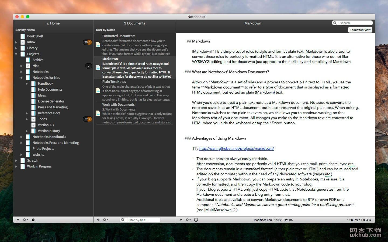 Notebooks 2.0.2 文档编写和日程备忘工具