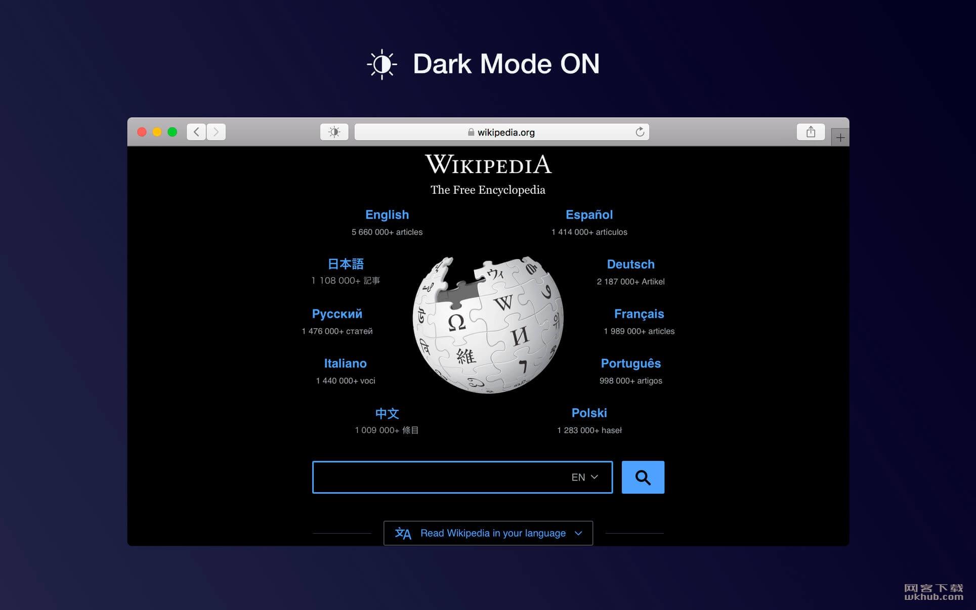 Dark Mode for Safari 1.9.6 Safari暗黑模式插件