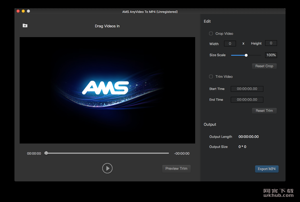 AMS Any Video To MP4 2.0.0 视频转MP4工具