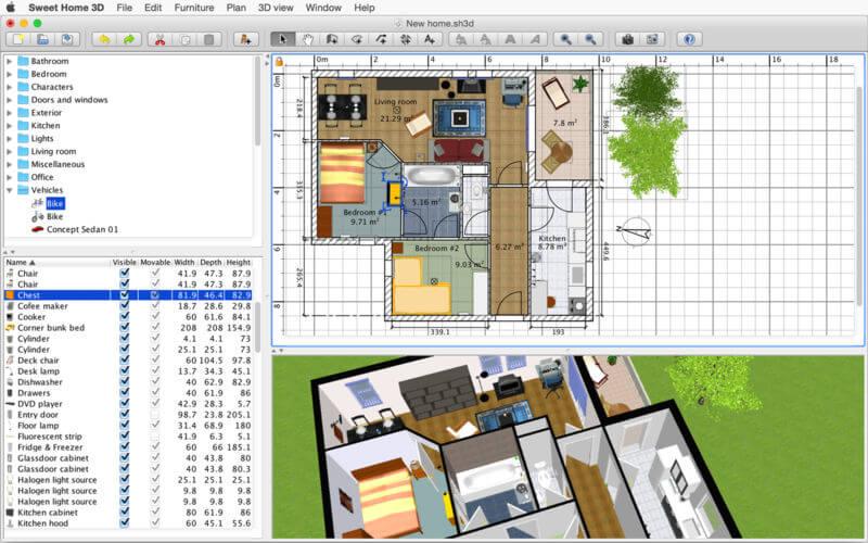 Sweet Home 3D 6.1.1 3D室内设计软件