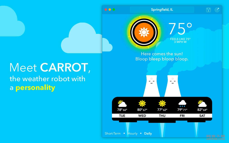 CARROT Weather 1.3.4 天气预报工具
