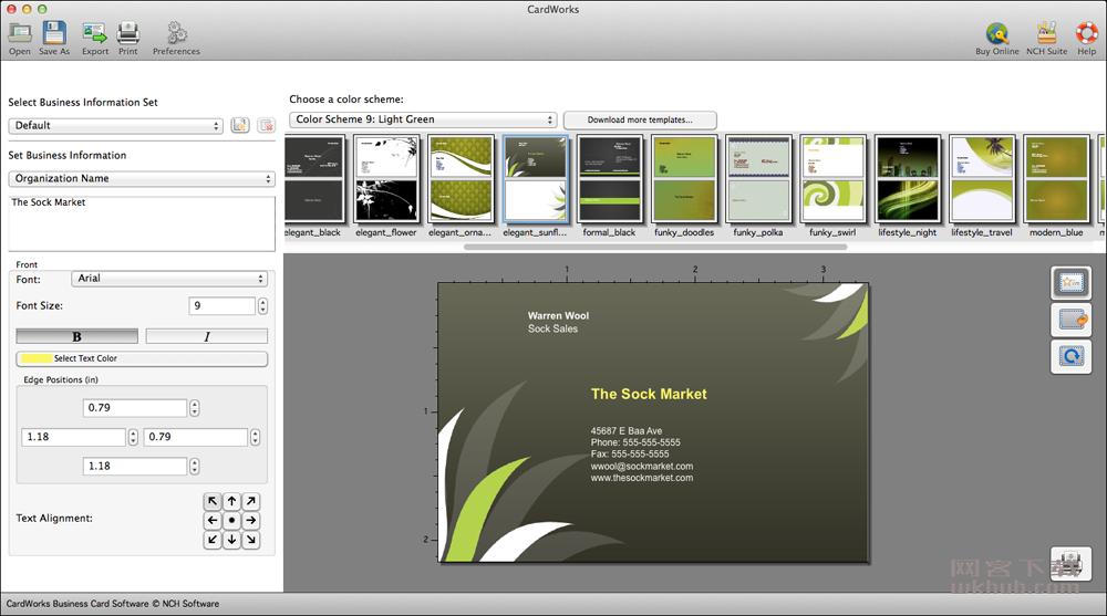 NCH CardWorks Plus 4.01 名片设计工具