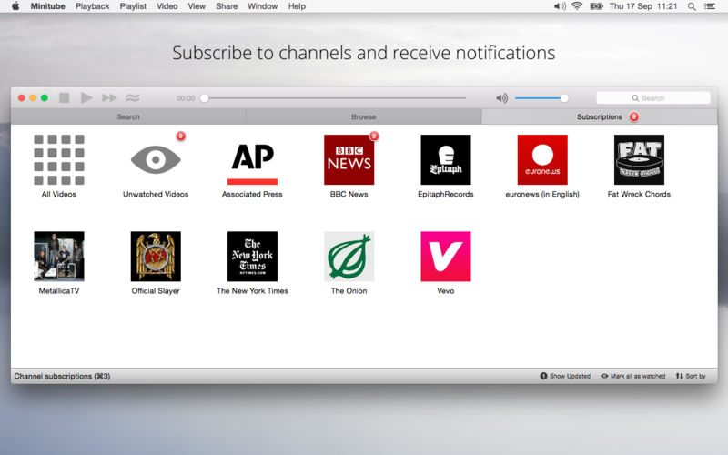 Minitube 3.3.1 轻量级Youtube应用