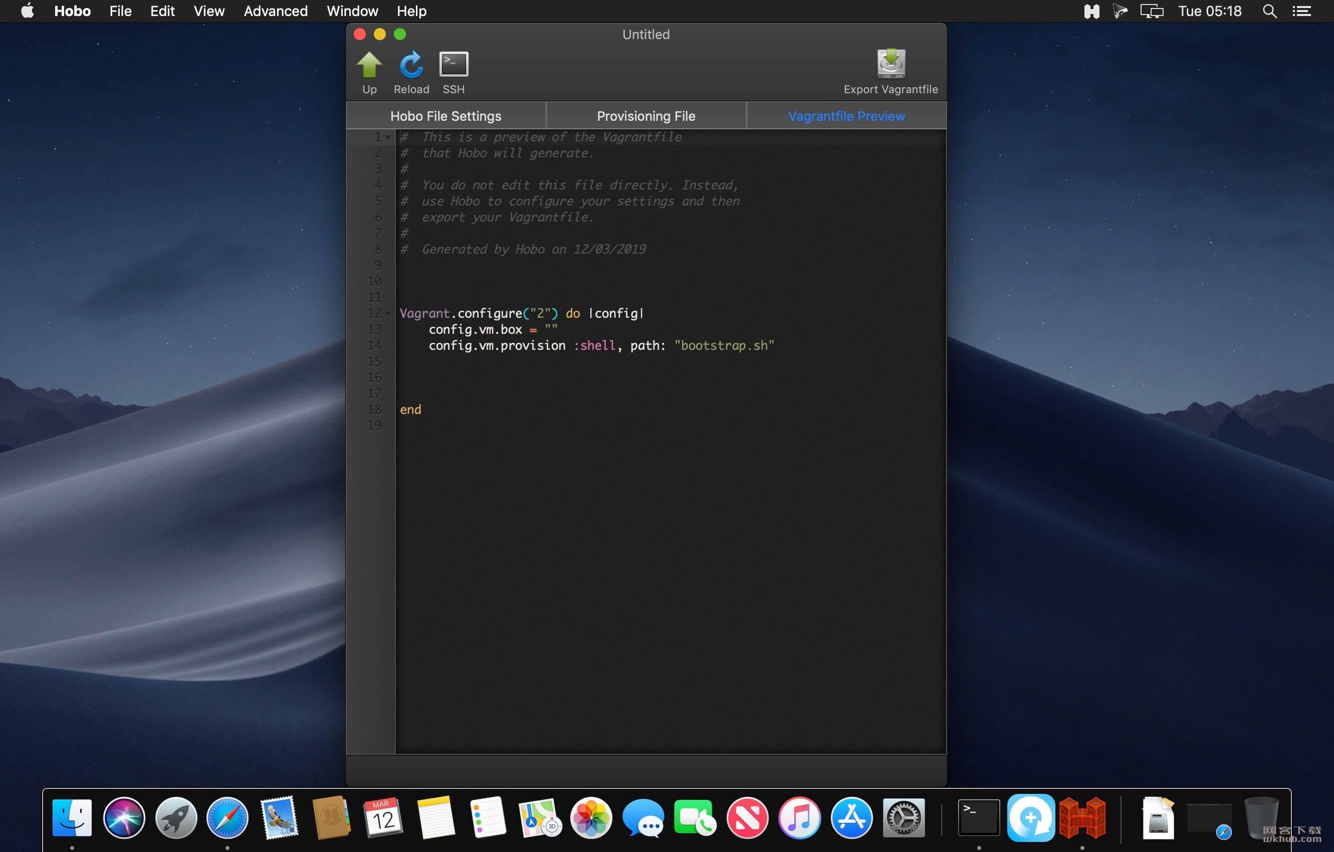 Hobo 1.5.0 Vagrant虚拟机客户端