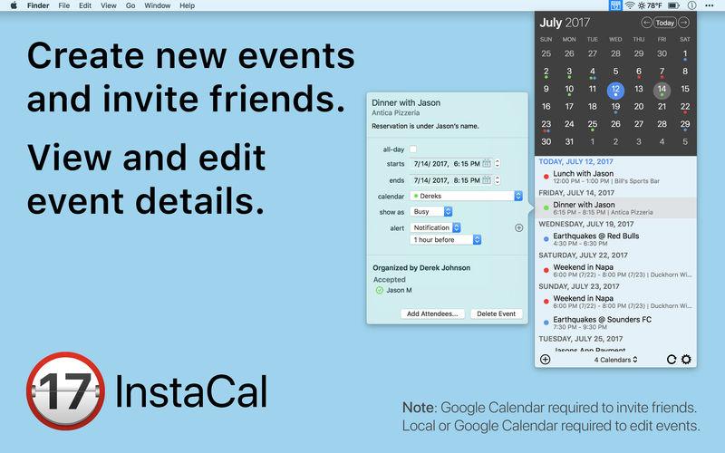 InstaCal 1.7.1 功能强大的日历应用