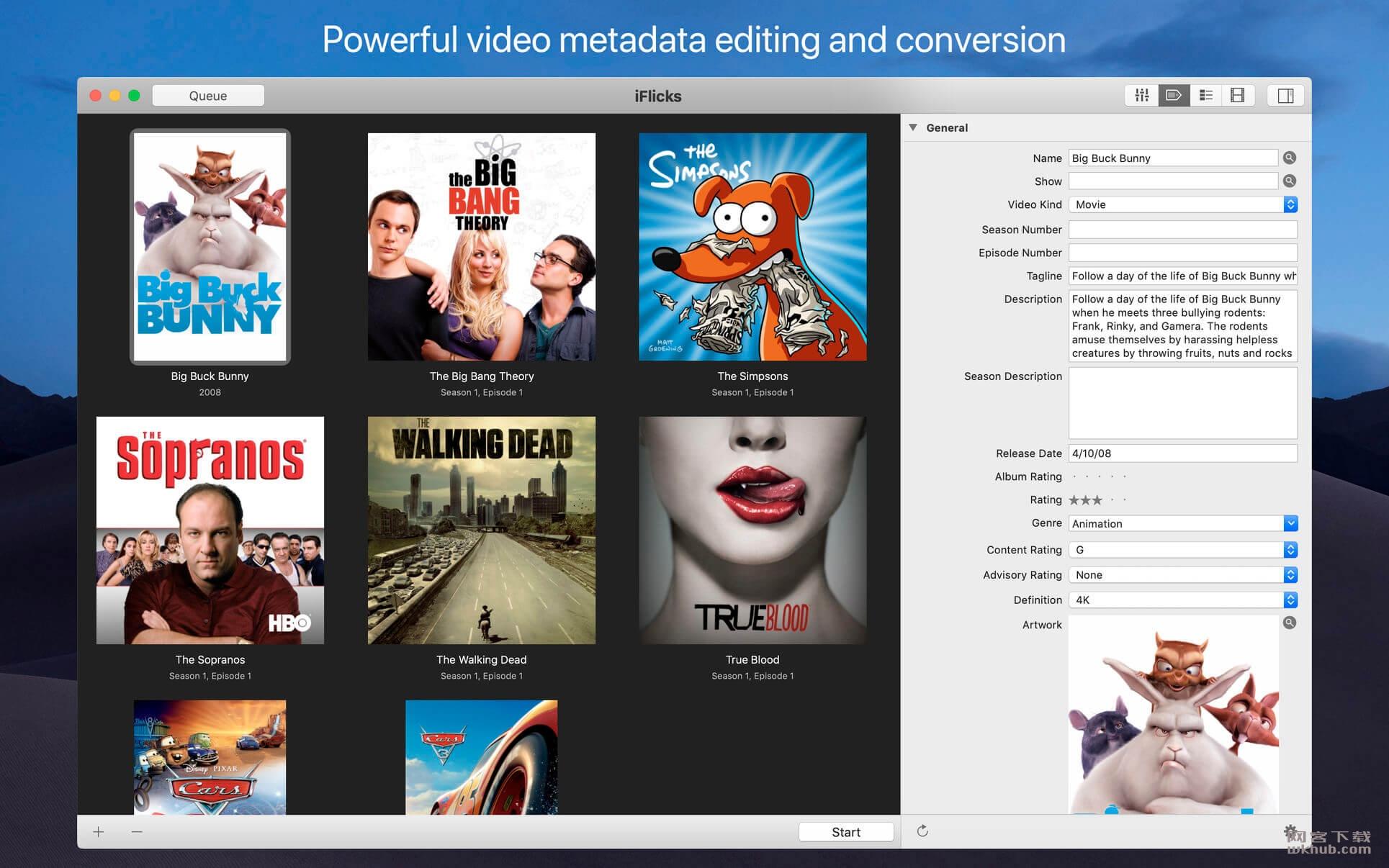 iFlicks 3.2.1 视频管理及格式转换工具