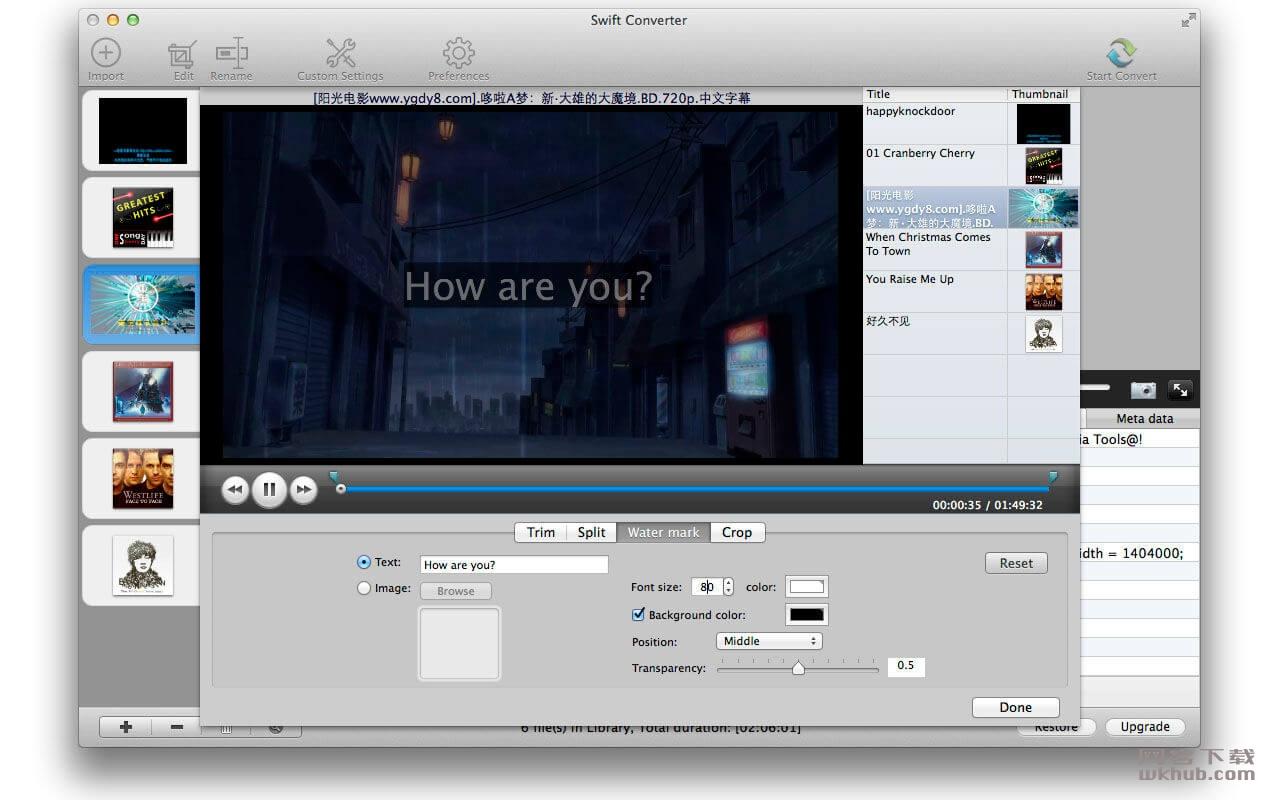 Swift Converter 3.2.0 多功能视频转换编辑工具