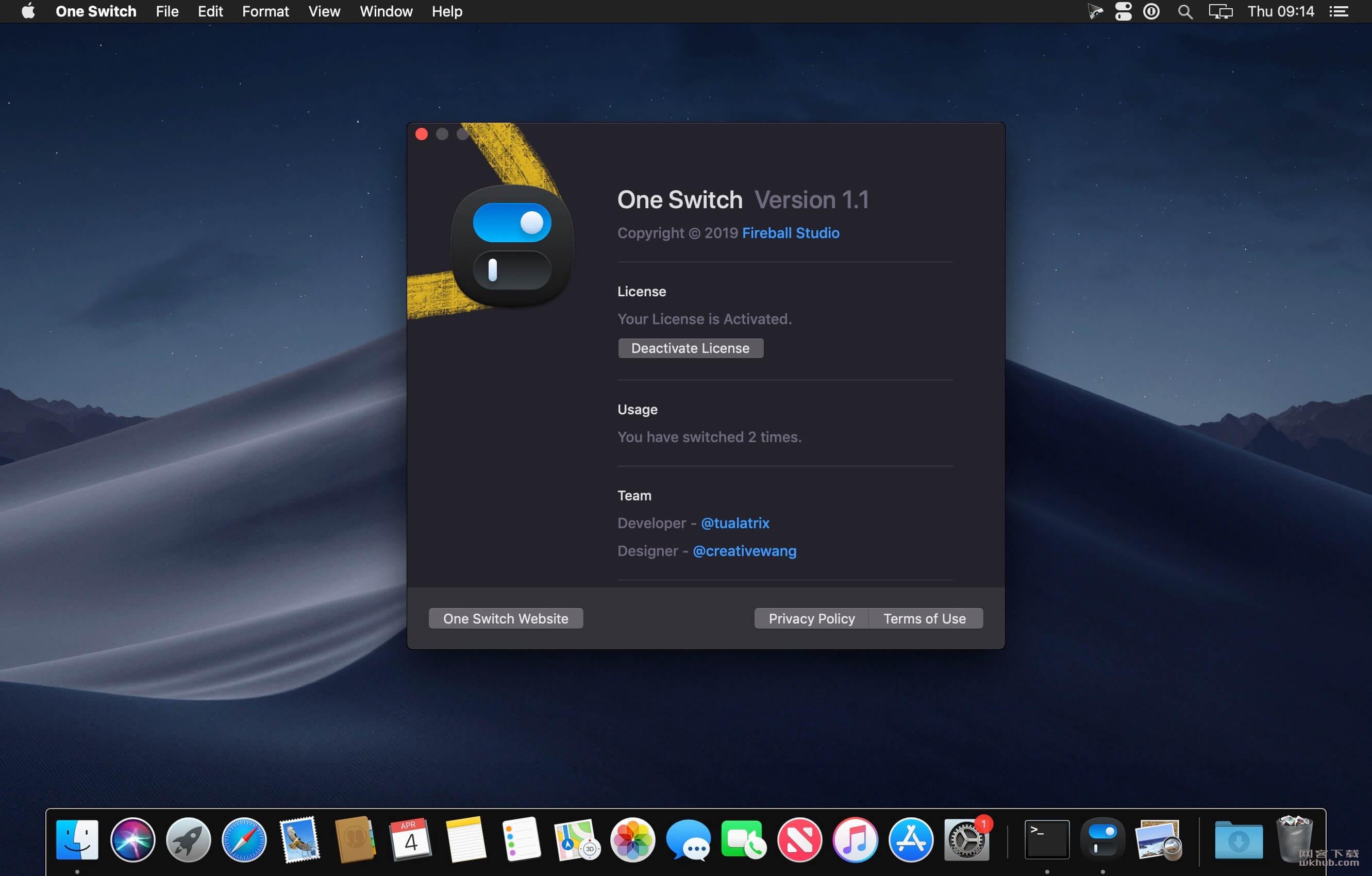 One Switch 1.1 系统功能快速切换工具