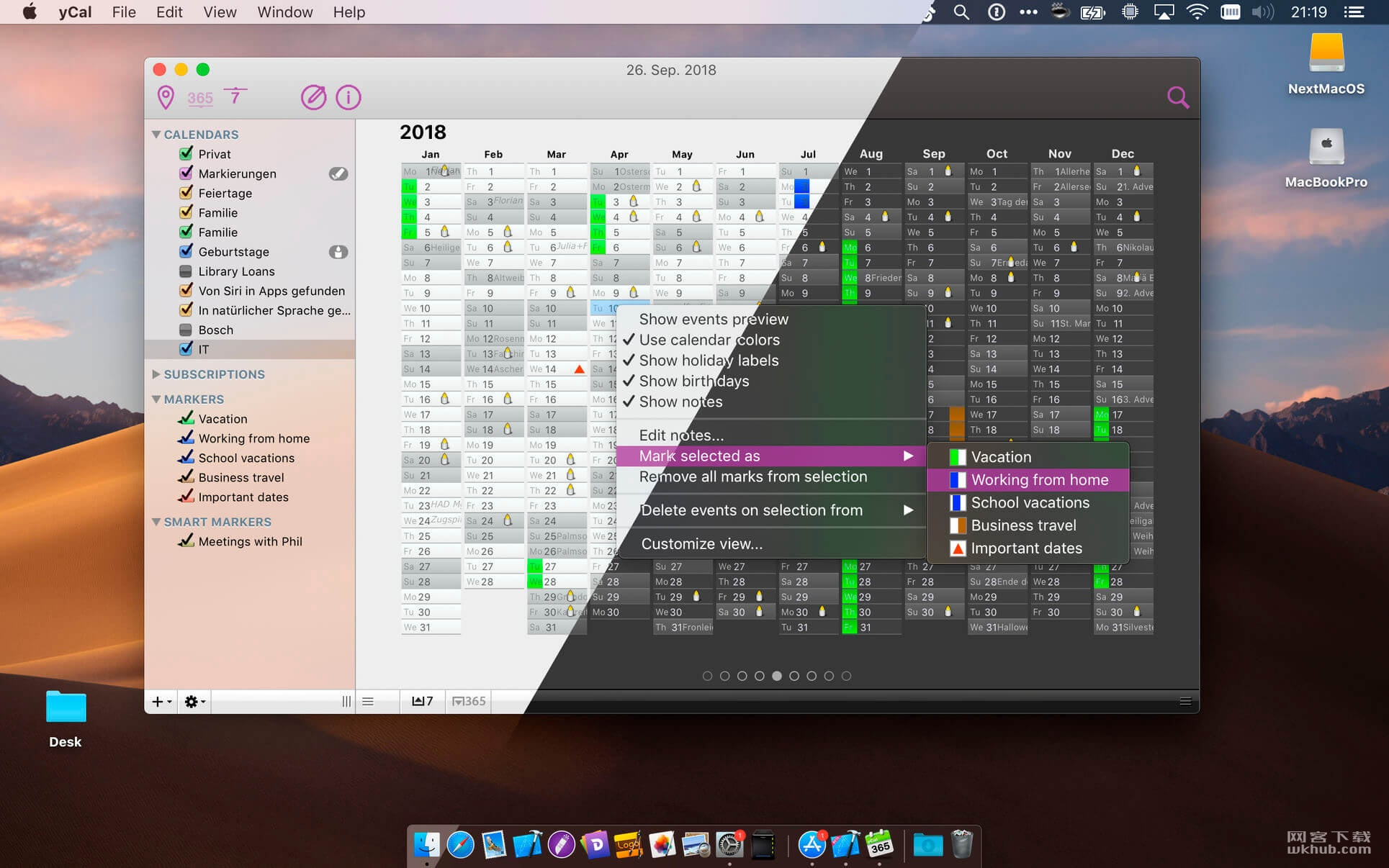 yCal 1.6 小巧实用的日历工具