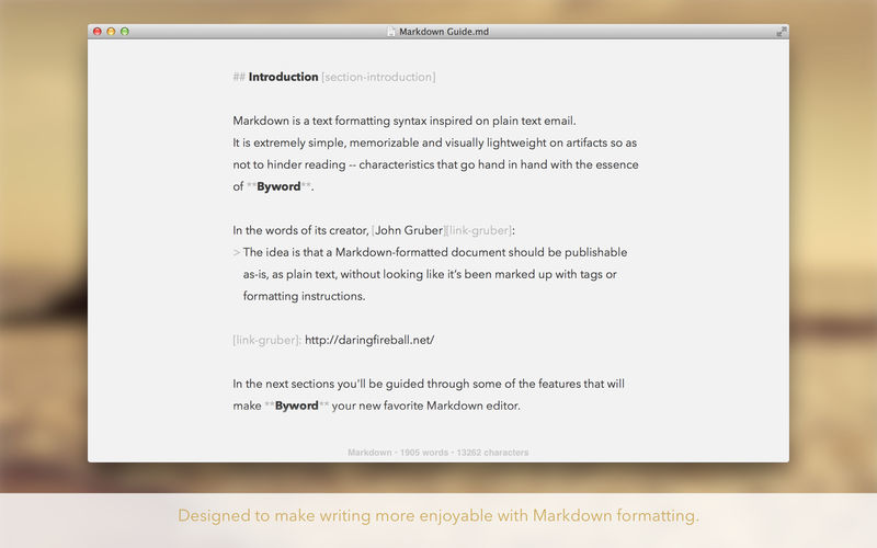 Byword 2.9.1 Markdown编辑器