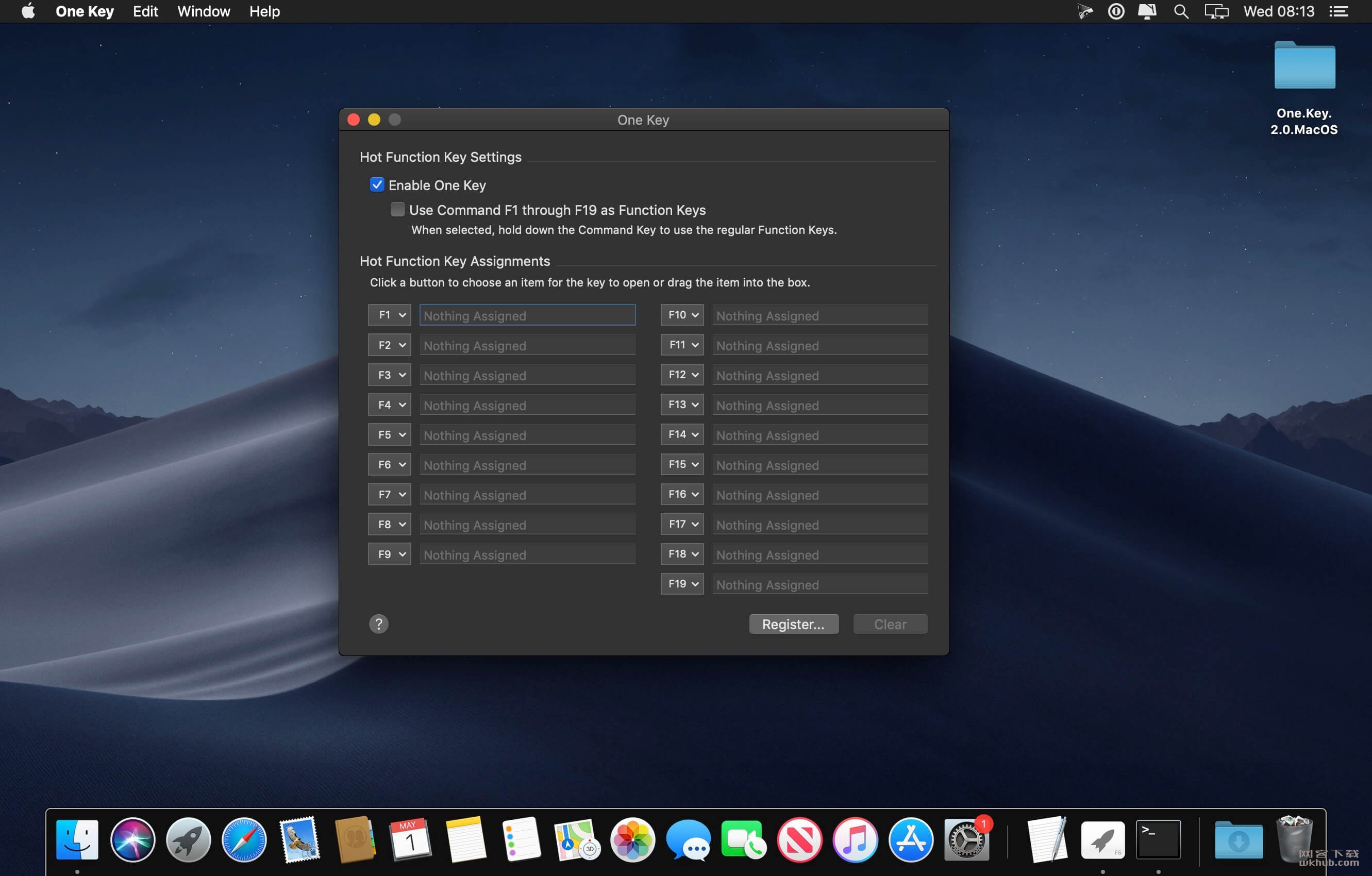 One Key 2.0 快捷键功能设置工具