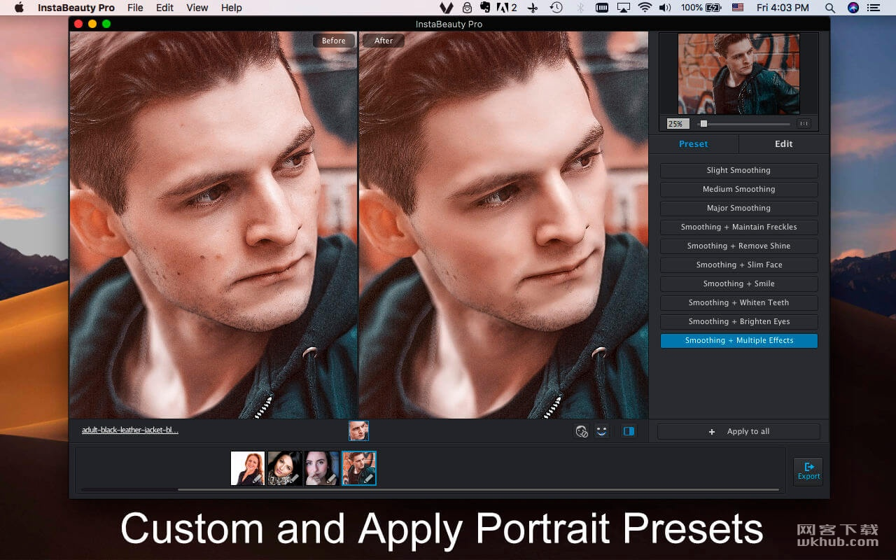 InstaBeauty Pro 2.2 小巧的肖像美化软件