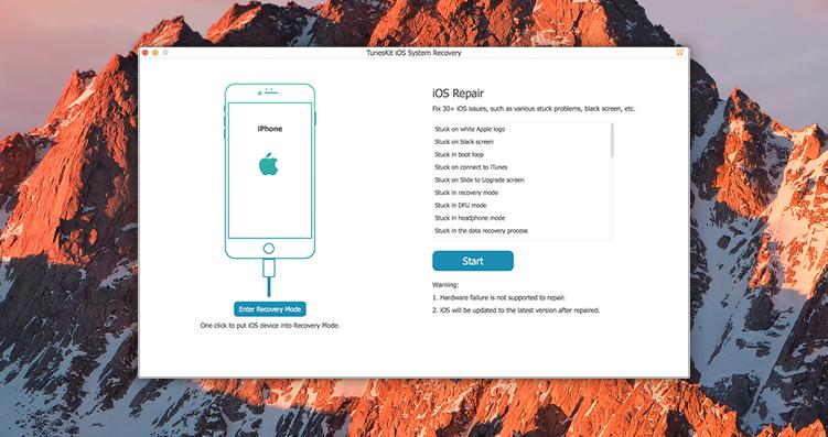 TunesKit iOS System Recovery 1.2.0 iOS系统恢复工具
