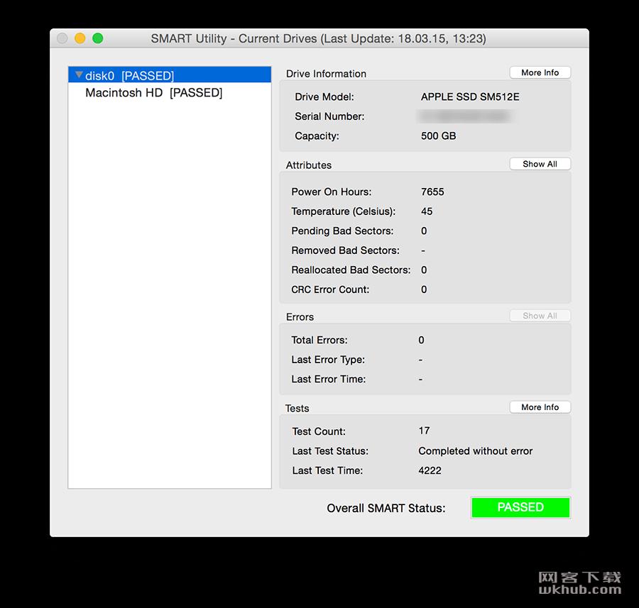 SMART Utility 3.2.5 硬盘检测工具
