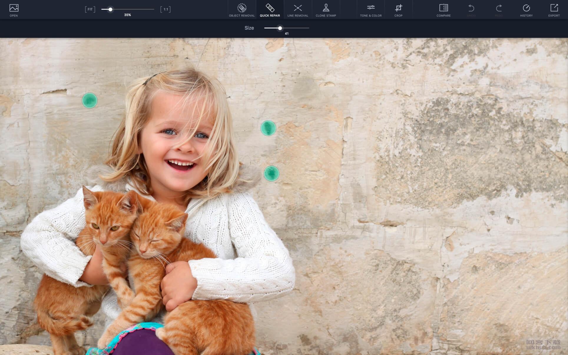 TouchRetouch 2.1.1 CR2 简单易用的抠图工具