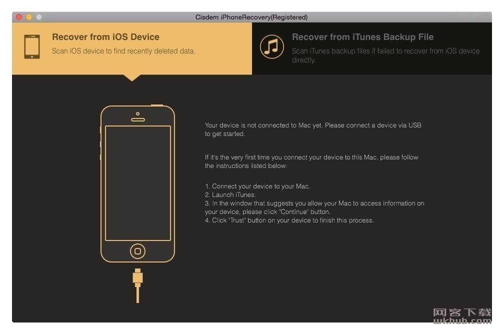 Cisdem iPhone Recovery 3.7.0 iPhone数据恢复工具