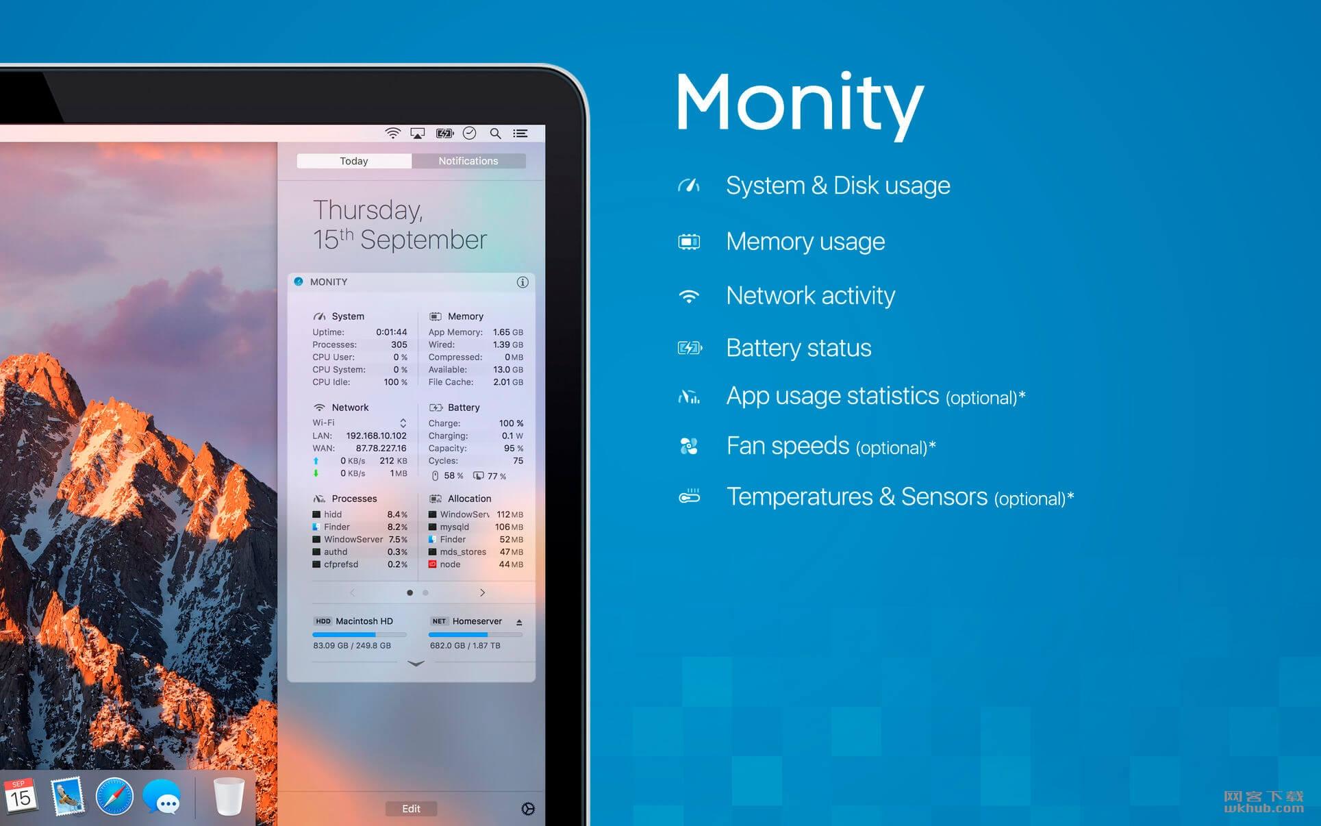 Monity 1.4.5 系统监控软件