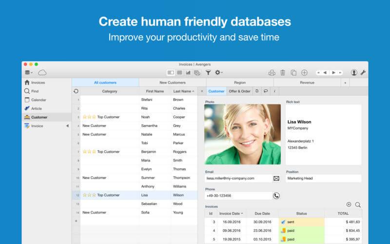 Ninox Database 2.5.8 数据库文件资料管理工具