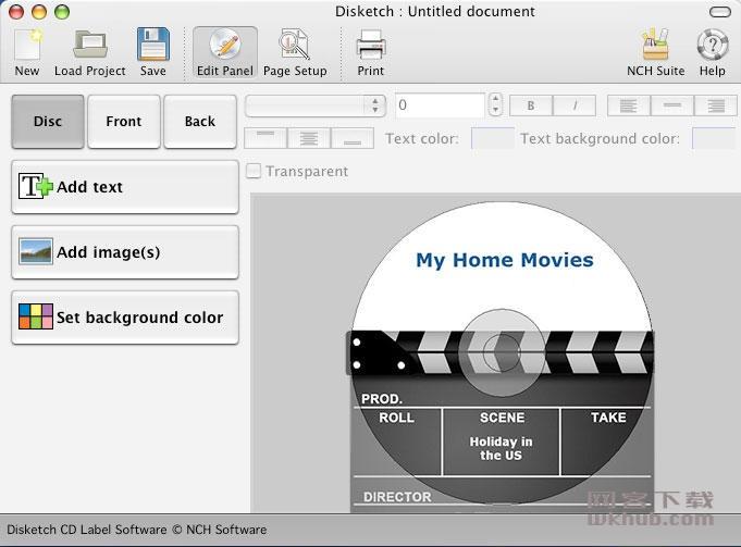 NCH Disketch Plus 5.03 光盘标签制作软件