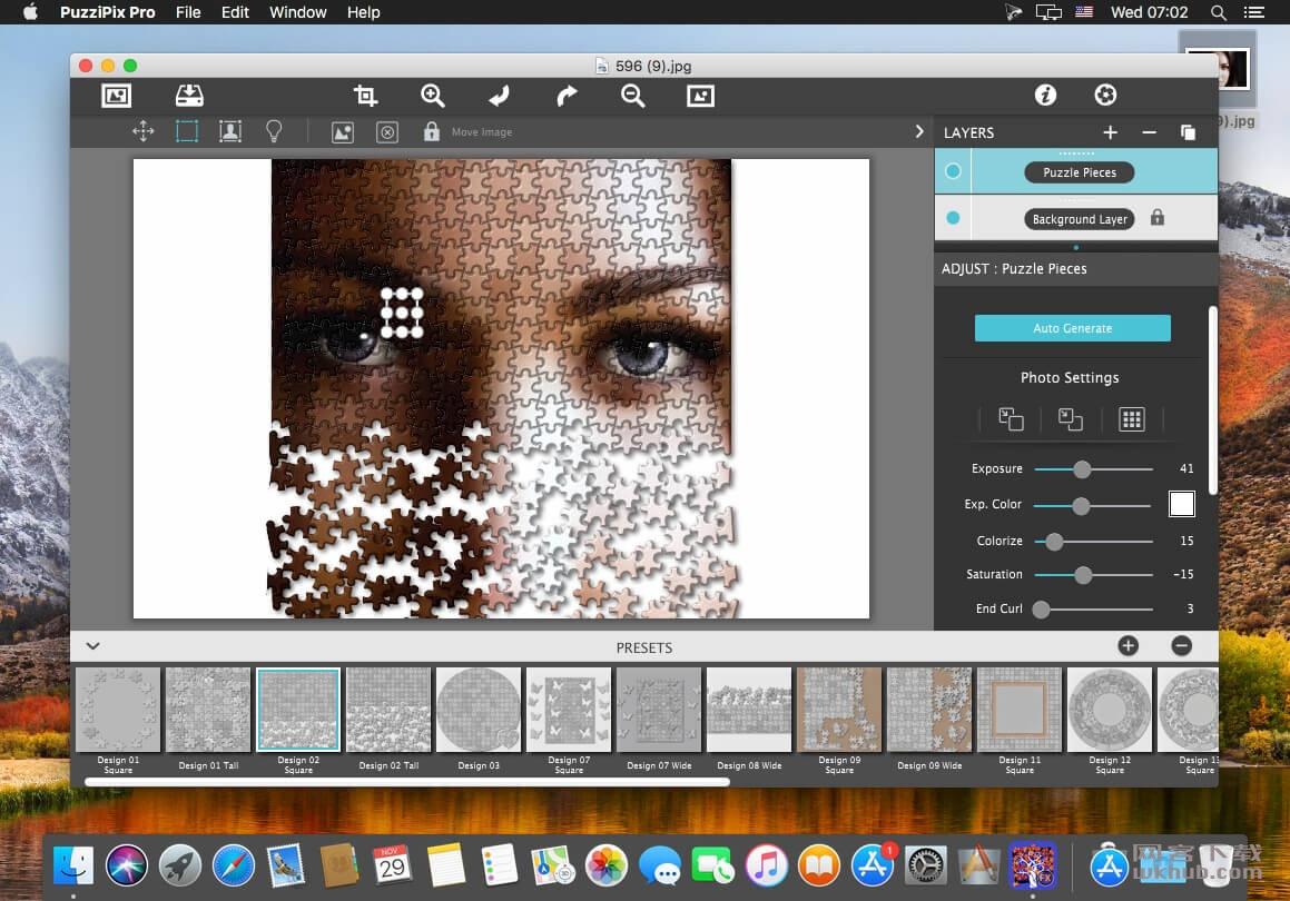 JixiPix PuzziPix Pro 1.0.8 拼图效果图片处理工具
