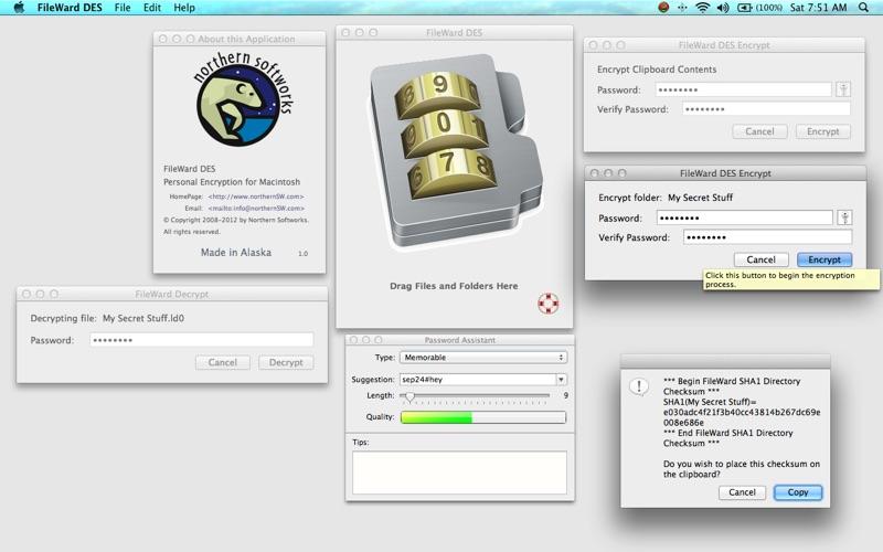 FileWard 1.6 文件加密工具