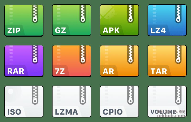eZip 1.8.2 简洁易用的免费压缩软件
