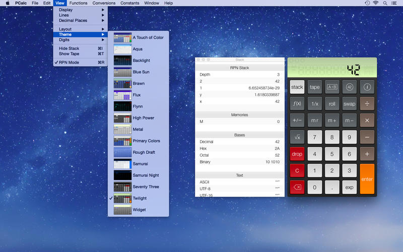 PCalc 4.7 功能强大的计算器应用
