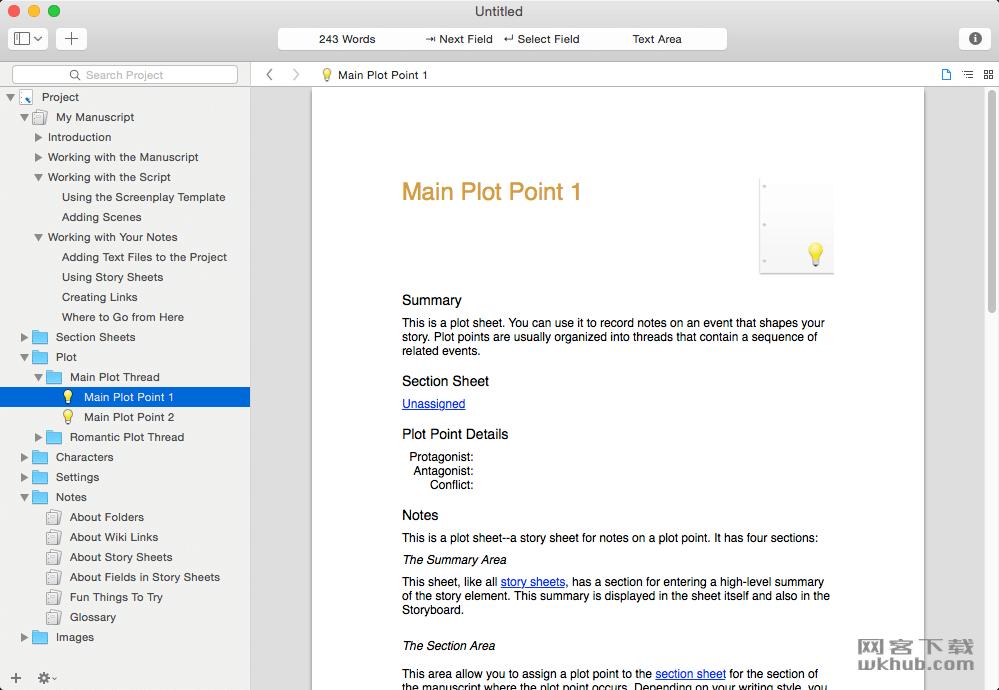 Storyist 4.1.2 优秀的写作软件