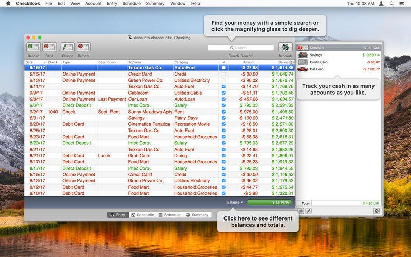 CheckBook Pro 2.6.13 个人支票帐户管理软件