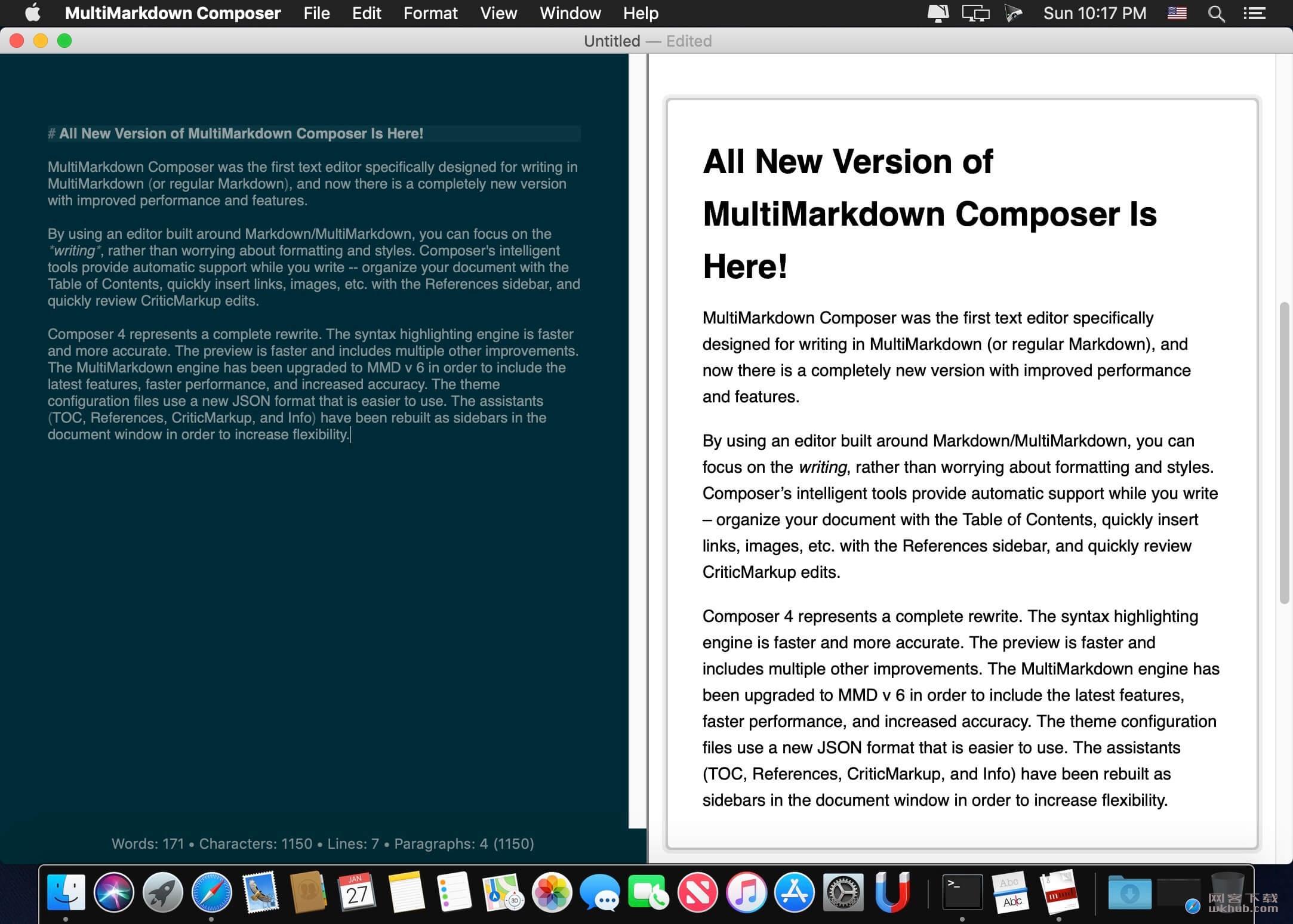 MultiMarkdown Composer Pro 4.5.12 文本编辑工具