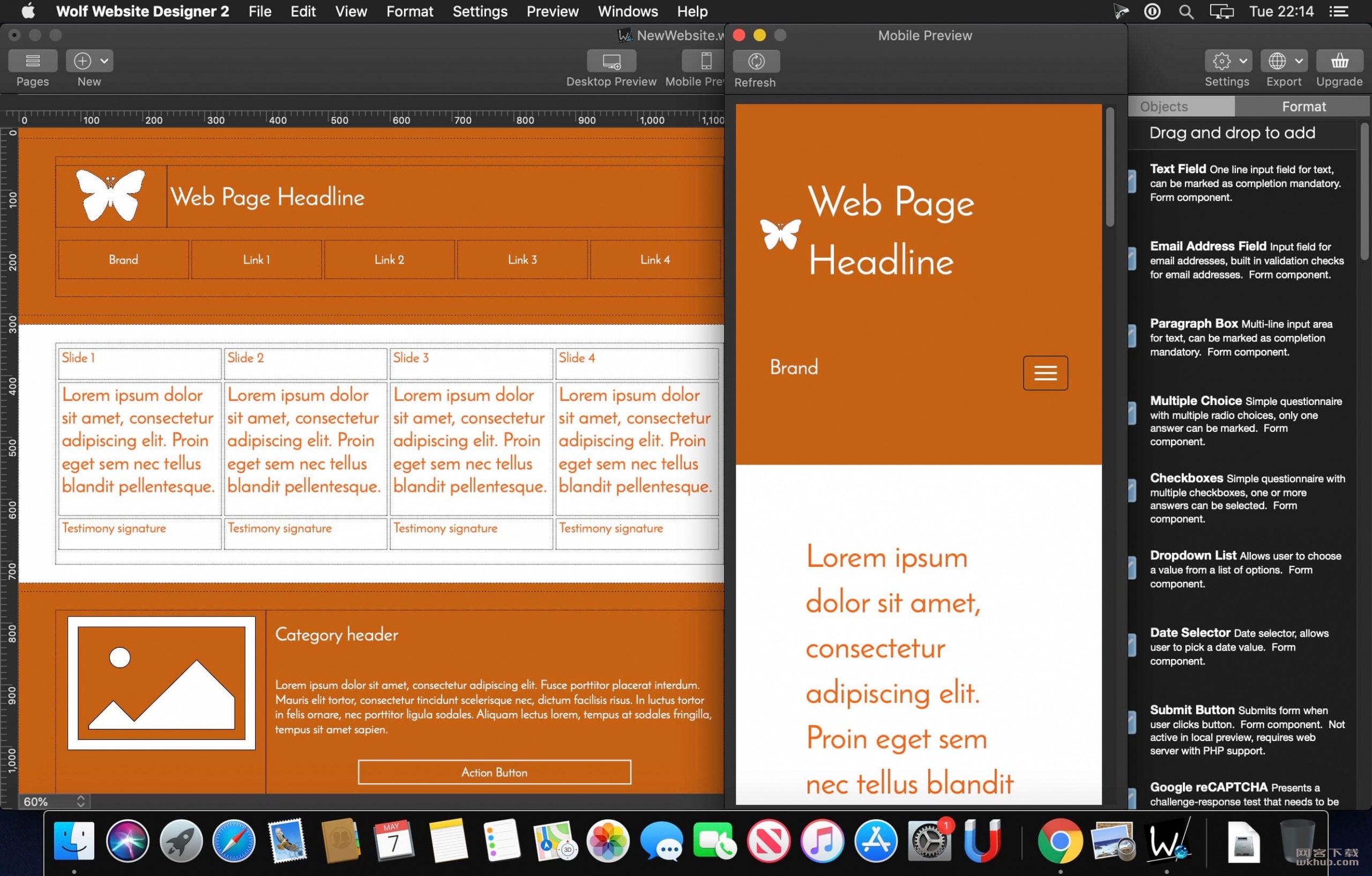 Wolf Responsive Designer Pro 2.30.4 响应式移动网站设计工具