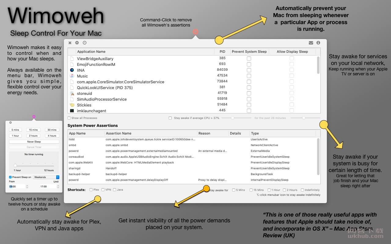 Wimoweh 1.1.68 菜单栏睡眠控制工具