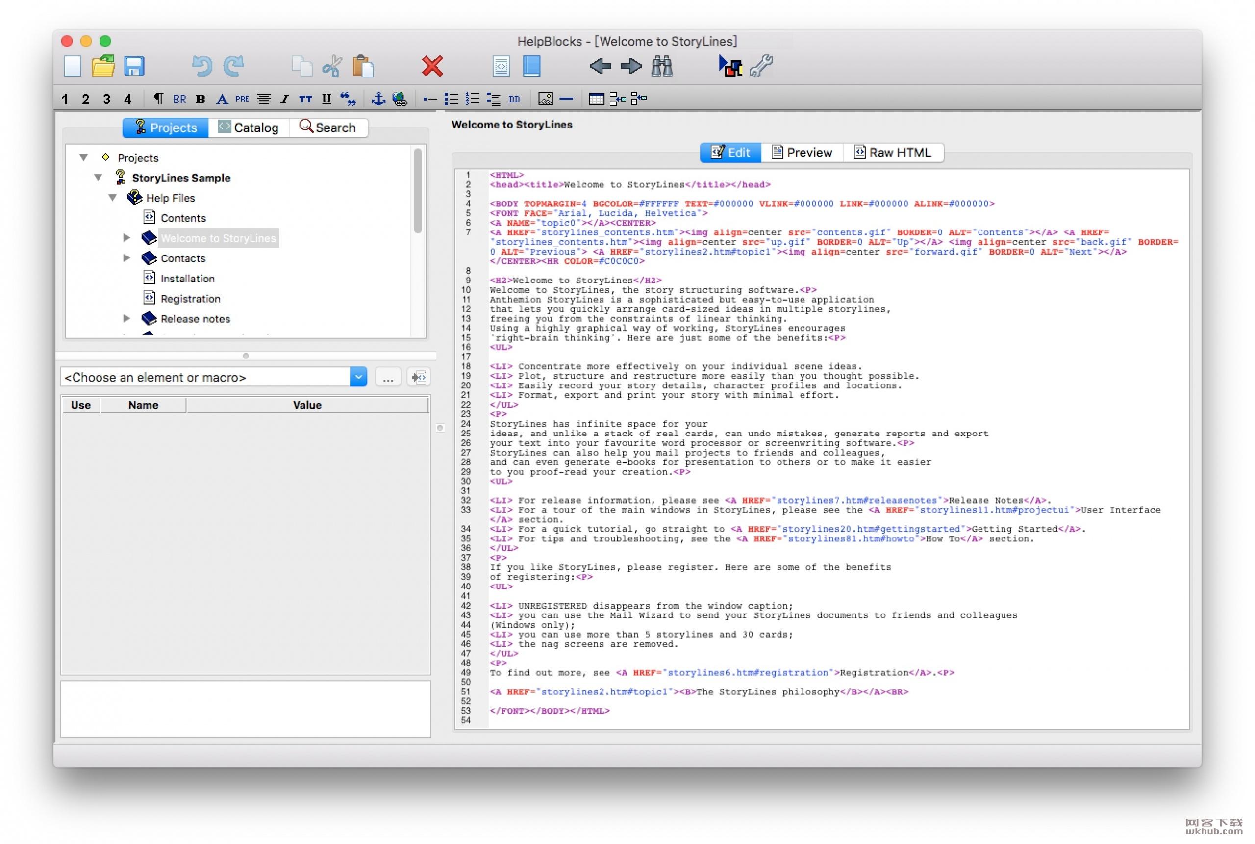 HelpBlocks 1.24 HTML帮助文件创作工具