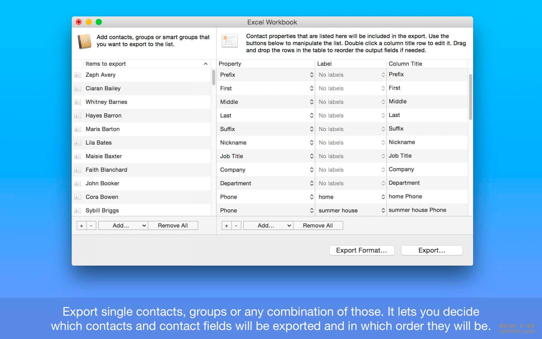 Exporter for Contacts 1.12 联系人导出工具
