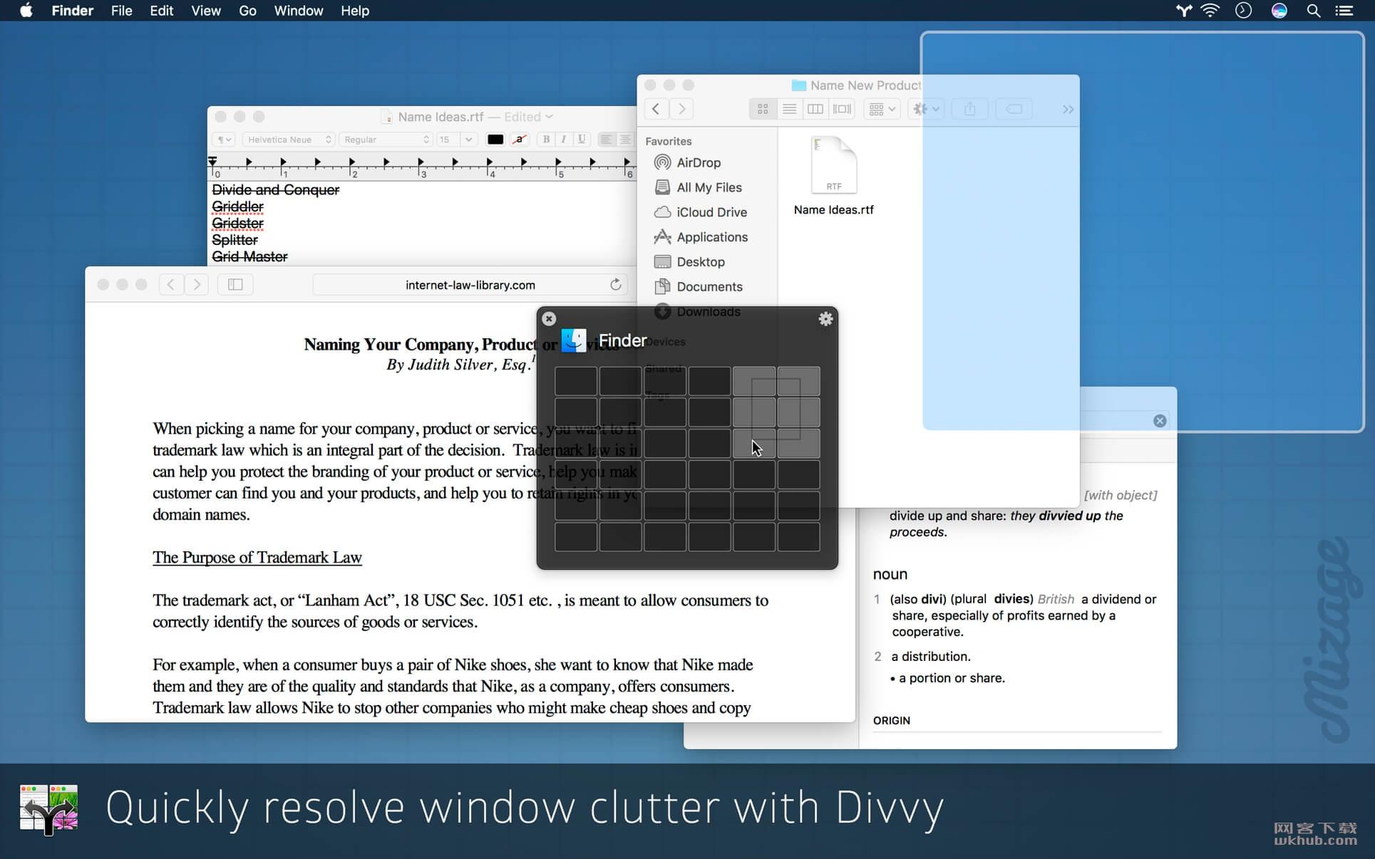 Divvy 1.5.2 窗口管理工具