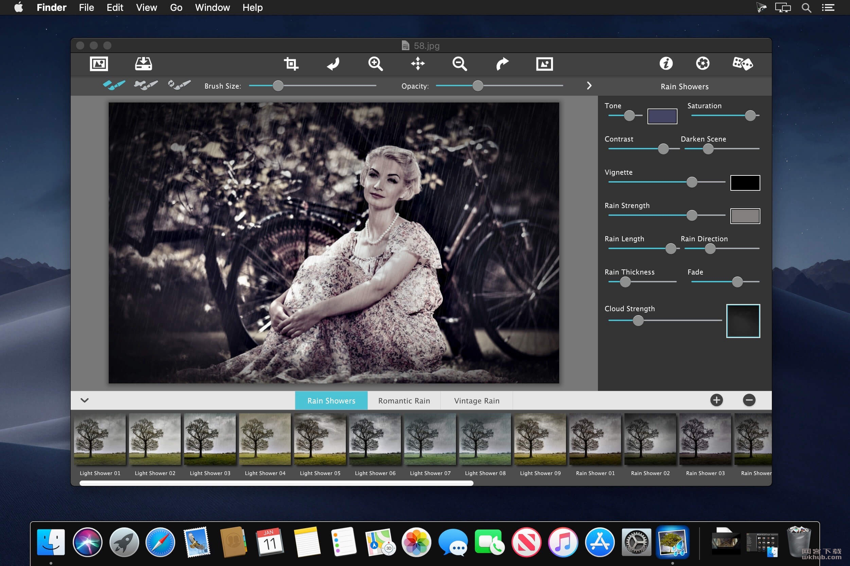 JixiPix Rainy Daze 1.22 照片雨点特效工具