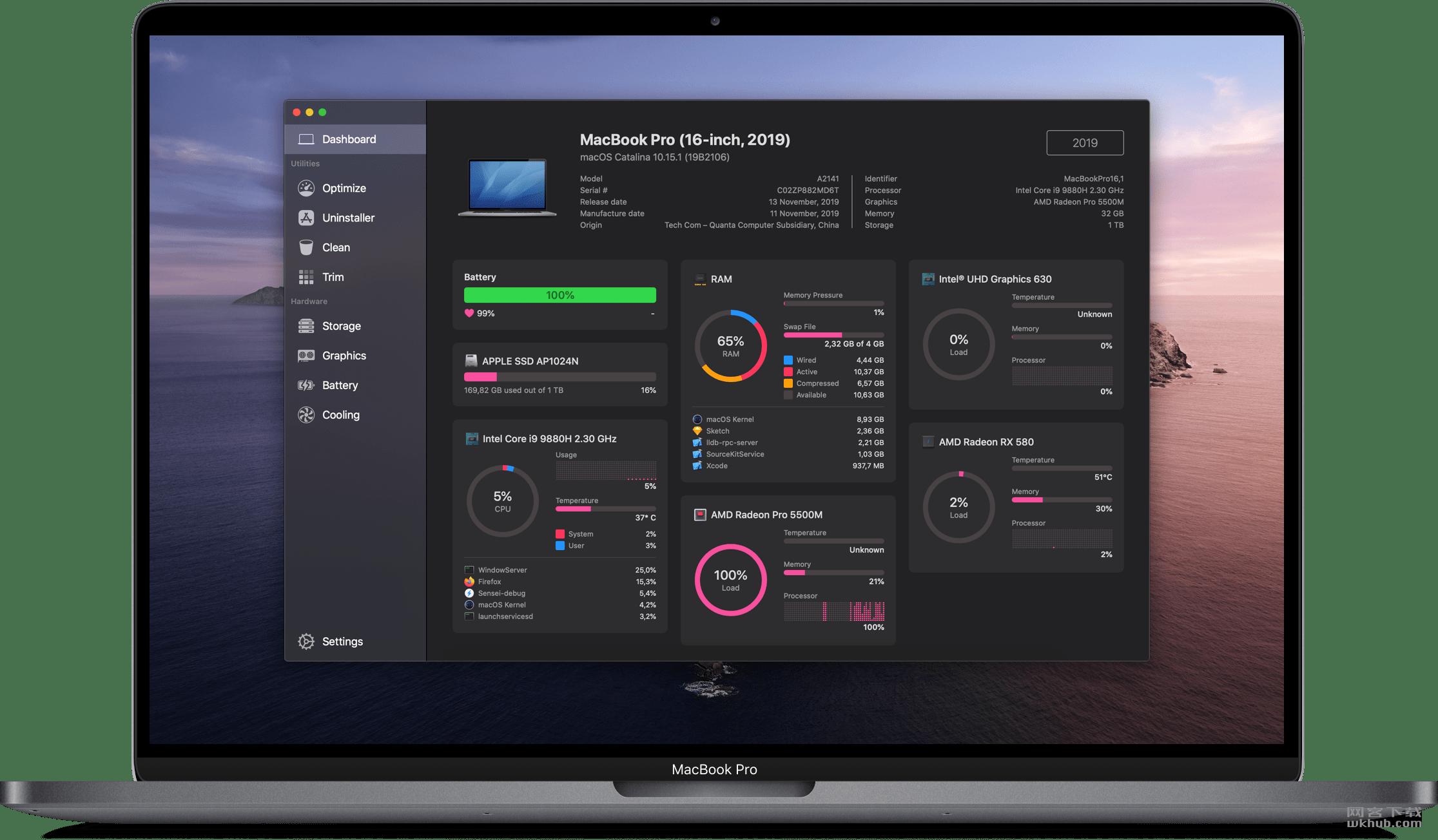 Sensei 1.1.8 系统监测及清理工具