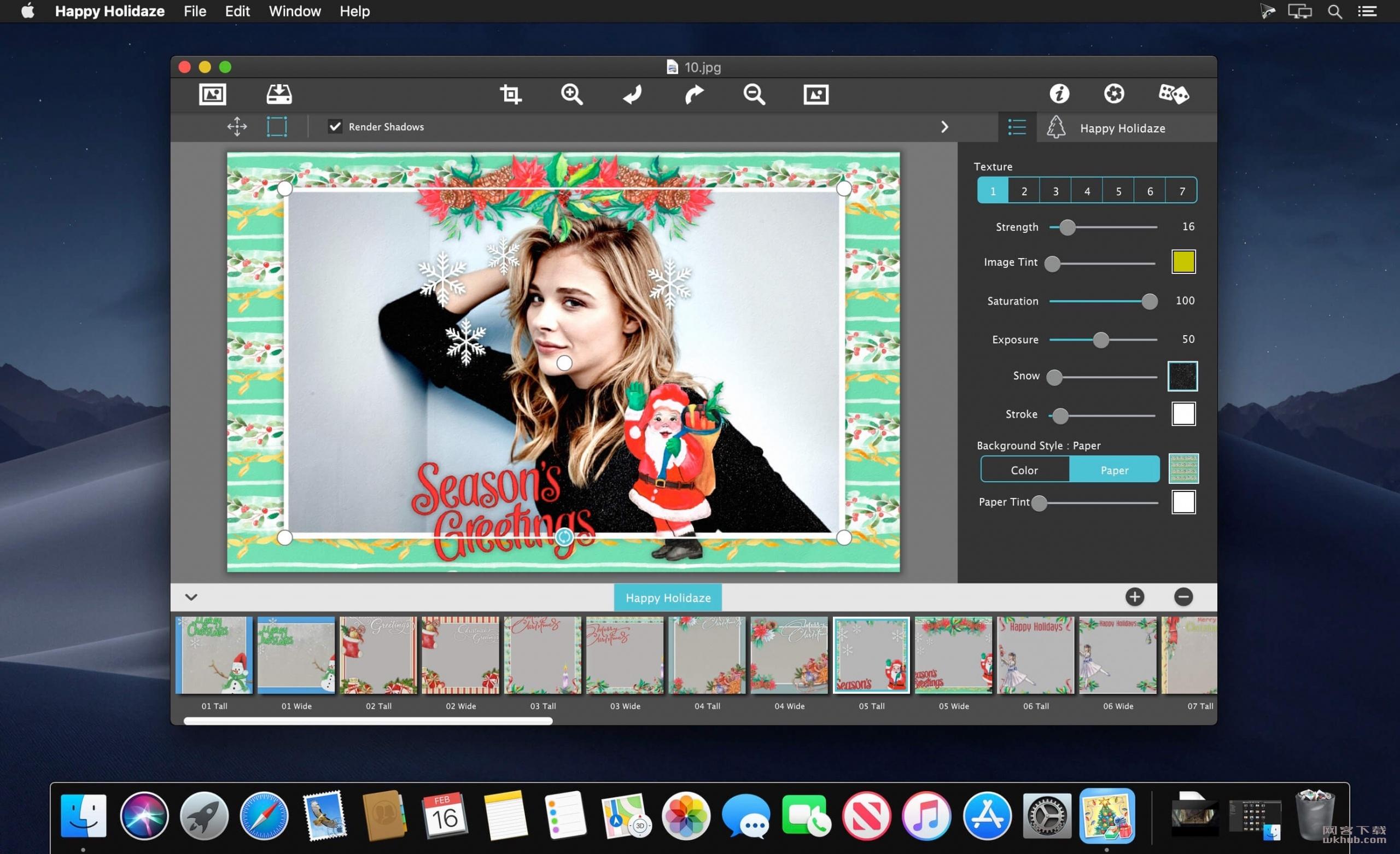 JixiPix Happy Holidaze 1.0.4 照片喜庆效果添加工具